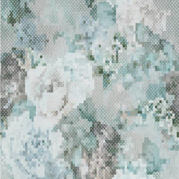 Sweet Dreams Geborduurde bloemen blauw/groen/grijs
