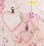 Voca Sweet Dreams Geborduurde bloemen roze/grijs/wit 218220