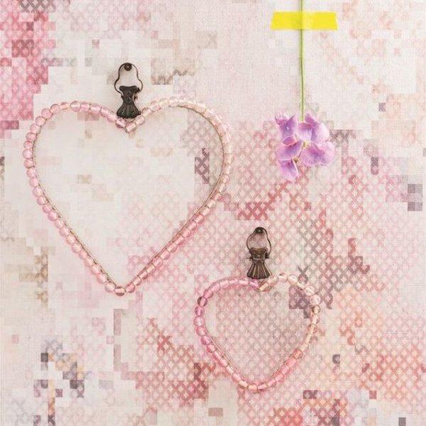 Sweet Dreams Geborduurde bloemen roze/grijs/wit