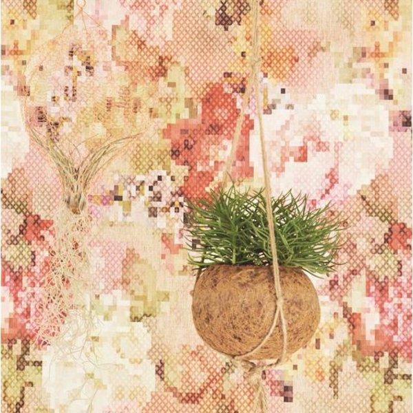 Sweet Dreams Geborduurde bloemen rood/oranje/groen