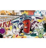 Dutch Wallcoverings Fotobehang Graffiti spuitbus