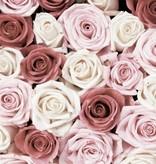 Dutch Wallcoverings Fotobehang Roze rozen