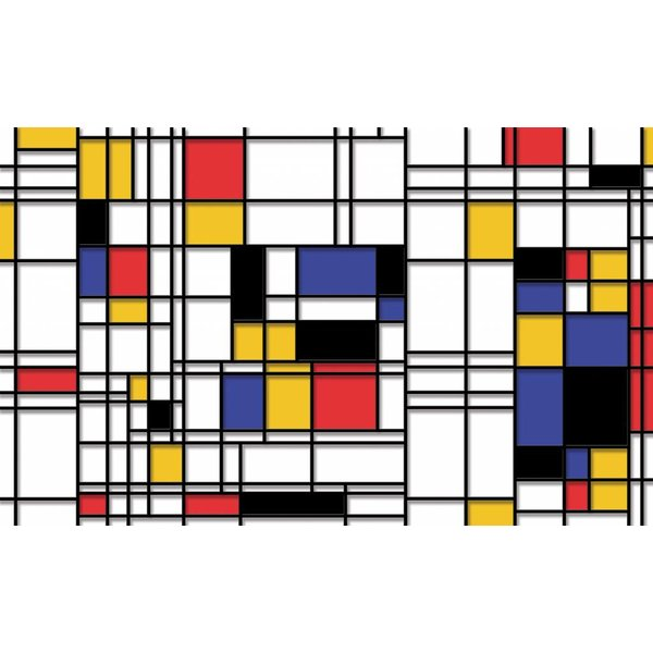 Dutch Wallcoverings Fotobehang Mondriaan