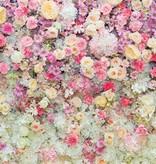 Dutch Wallcoverings Fotobehang Rozen roze/geel