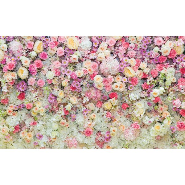 Dutch Wallcoverings Fotobehang Rozen roze/geel