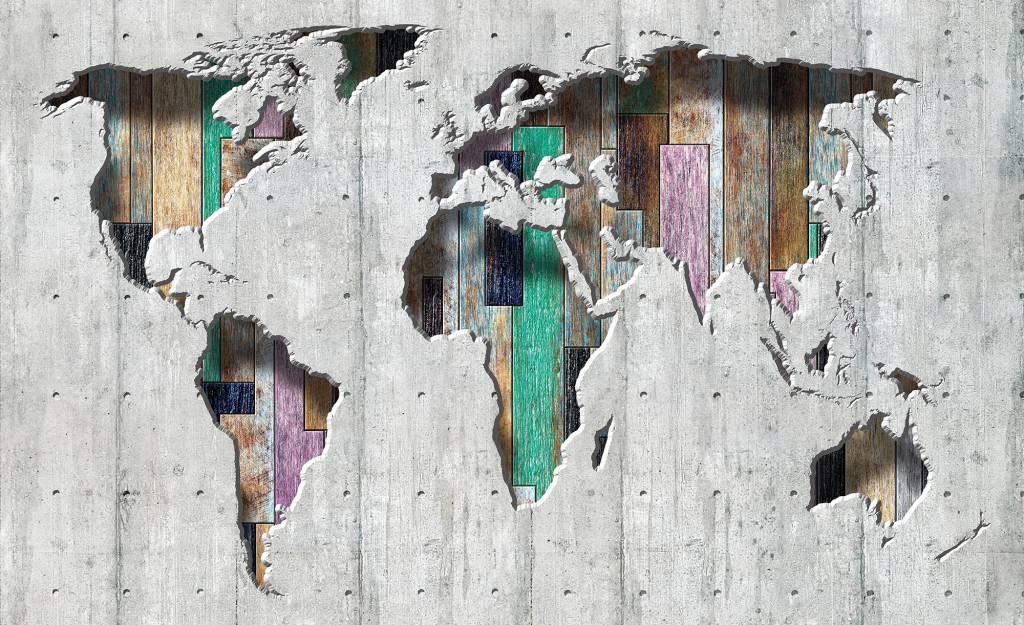 Fotobehang wereldkaart licht de behangwinkelier for Goedkoop glasvliesbehang