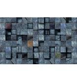 Dutch Wallcoverings Fotobehang Houtblok blauw