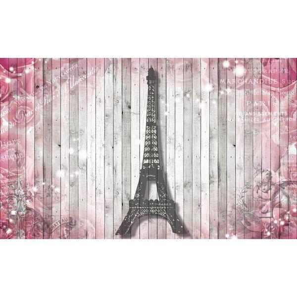 Dutch Wallcoverings Fotobehang Eiffeltoren op sloophout