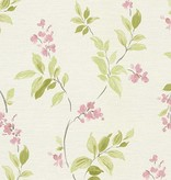 A.S. Creation Around the World Bloemetjes beige/roze/groen 30416-2