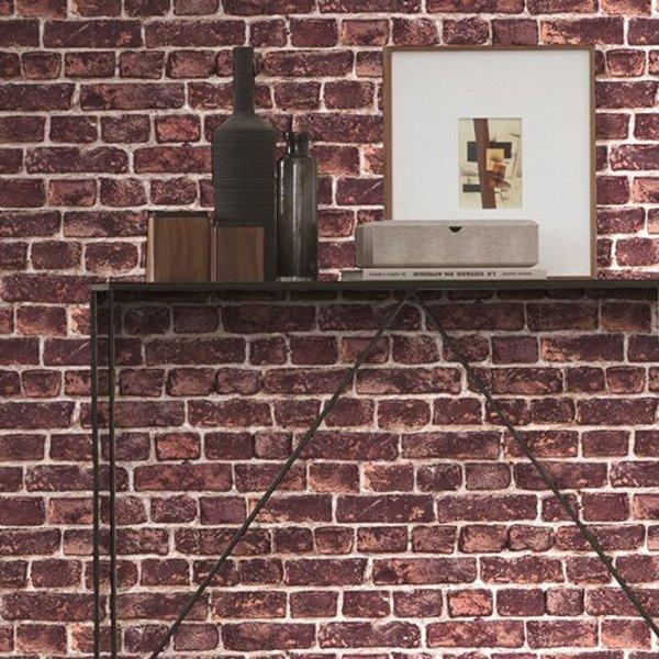Around the World Stenen muur rood