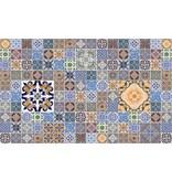 Dutch Wallcoverings Fotobehang Marokkaanse tegels blauw