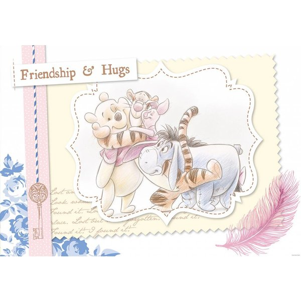Dutch Wallcoverings Fotobehang Winnie the Pooh friendship