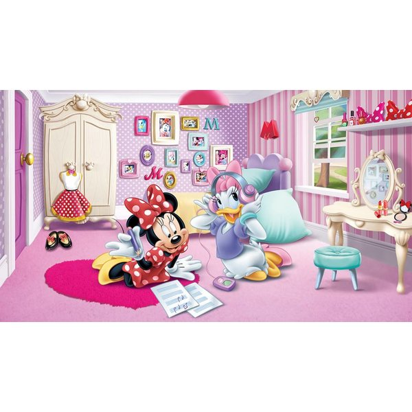 Fotobehang Minnie Mouse house