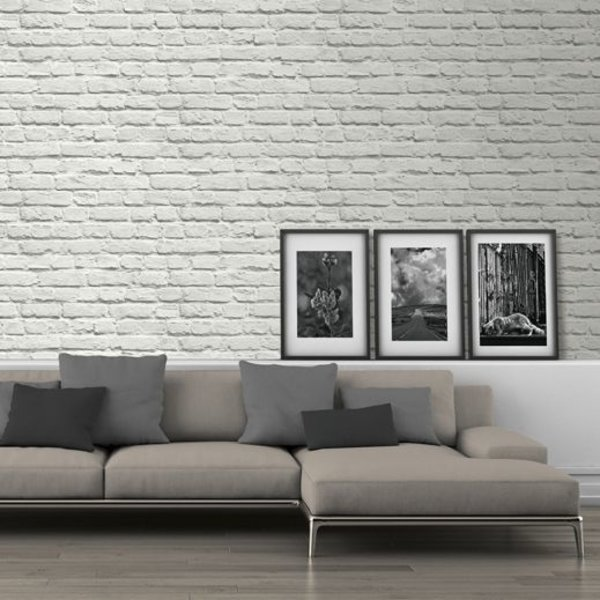 Dutch Wallcoverings Freestyle Steenstrip wit 102539