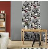 Dutch Wallcoverings Freestyle Fotomuur Love - Grijs A103-02