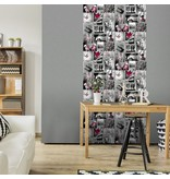 Dutch Wallcoverings Freestyle Fotomuur Love - Roze A103-03