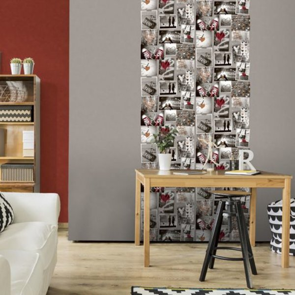 Dutch Wallcoverings Freestyle Fotomuur Love - Beige/rood A103-10