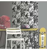 Dutch Wallcoverings Freestyle New York - Zwart/wit L061-09