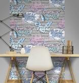 Dutch Wallcoverings Freestyle Baksteen Grijs Graffiti L179-06