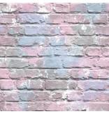Dutch Wallcoverings Freestyle Bakstenen Graffiti - Blauw/lila L335-06