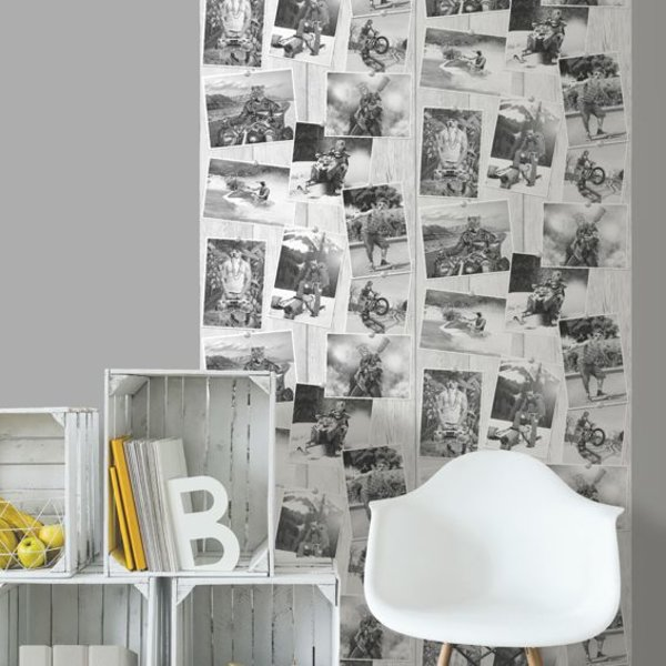 Dutch Wallcoverings Freestyle Dieren foto's - Zwart/wit