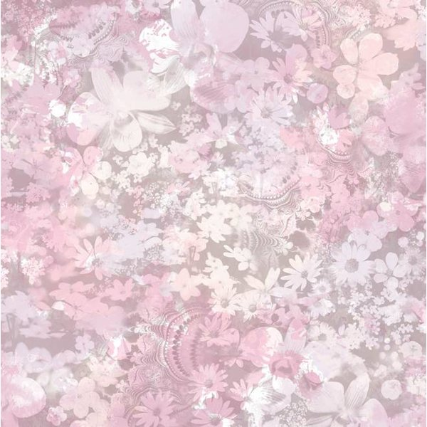Dutch Wallcoverings Freestyle Bloemen - Roze