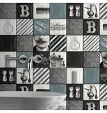 Dutch Wallcoverings Freestyle Berbershop - Zwart/wit 578101