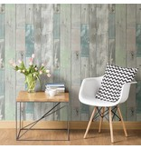 Dutch Wallcoverings Restored Sloophout grijs/groen 20416