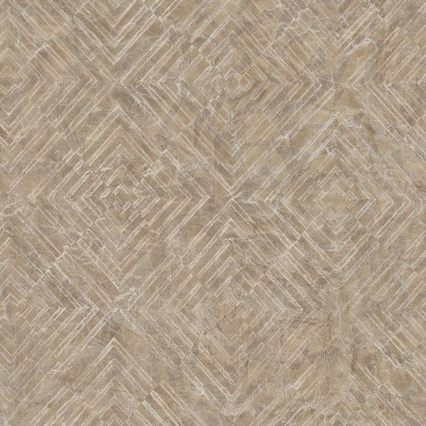 Dutch Wallcoverings Restored Labyrinth - Bruin 24002