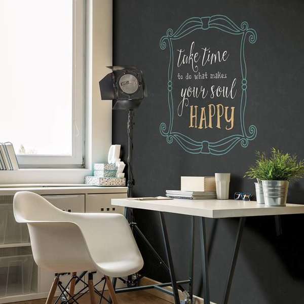 Restored Chalkboard - Antraciet