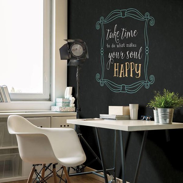 Dutch Wallcoverings Restored Chalkboard - Zwart 24067
