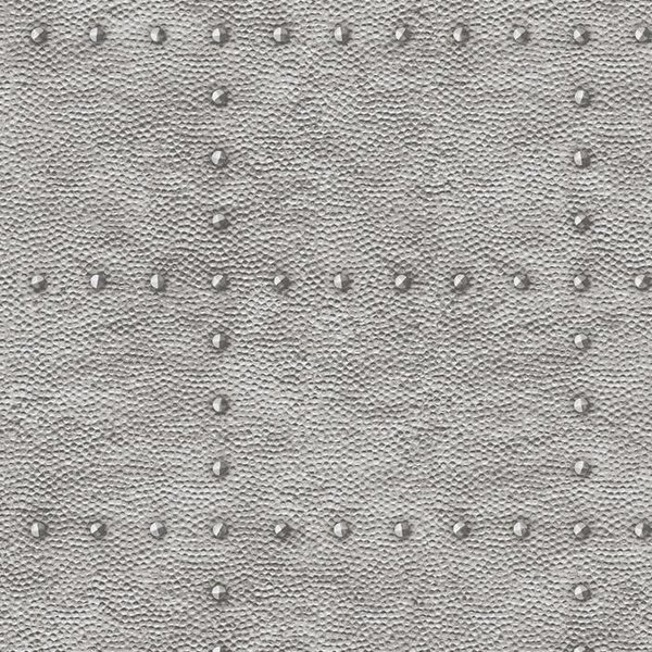Dutch Wallcoverings Restored Hammered Metal - Zilver 24009