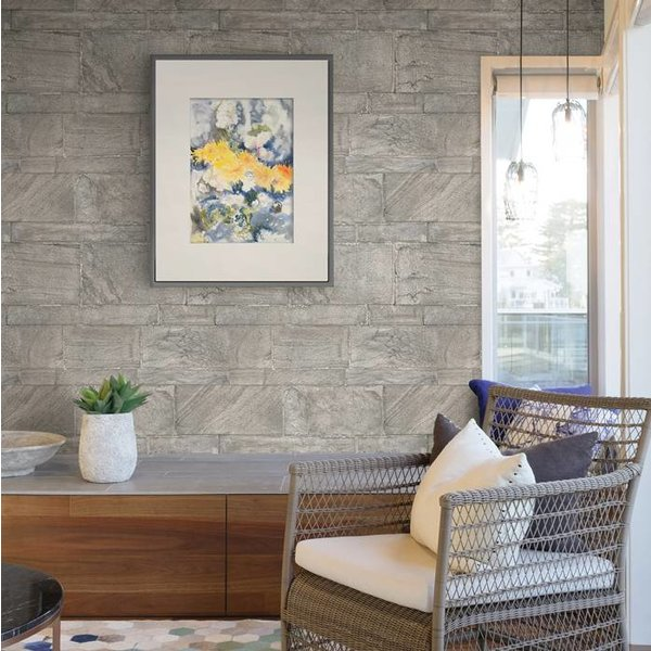 Restored Sandstone Wall - Grijs/beige
