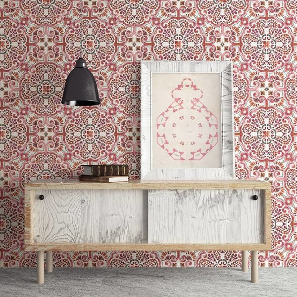 Dutch Wallcoverings Restored Florentine Tile - Rood/oranje