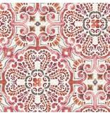 Dutch Wallcoverings Restored Florentine Tile - Rood/oranje 24043