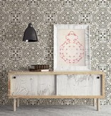 Dutch Wallcoverings Restored Florentine Tile - Grijs 24045