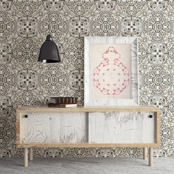 Dutch Wallcoverings Restored Florentine Tile - Grijs