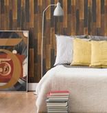 Dutch Wallcoverings Restored Antique Floorboards - Bruin/goud 24047