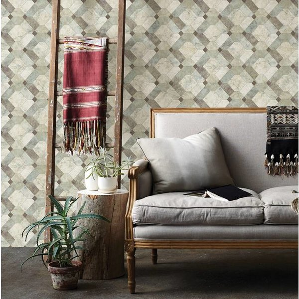 Dutch Wallcoverings Restored Devonshire - Groen 24058