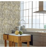 Dutch Wallcoverings Restored Patina Panels - Beige/groen 24065