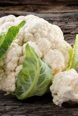 Karbonade in jus met gekookte aardappel en bloemkool met tuinkruidensaus