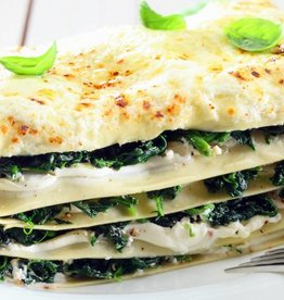 Lasagne pompoen, spinazie en ricotta