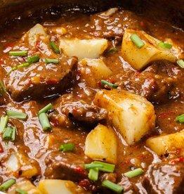 Hachee met oma's stoofpeertjes & aardappel