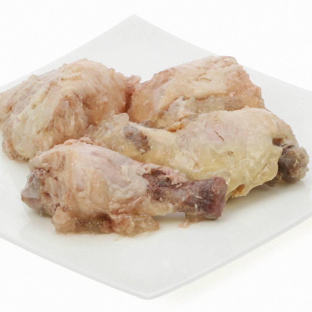 Sanoro Huhn pur - ganze Hähnchenschenkel im eigenen Saft