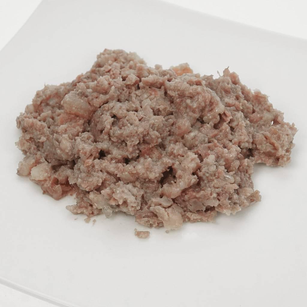 Sanoro Menü vom Strauß mit Kartoffeln, Tomate und Kochbanane