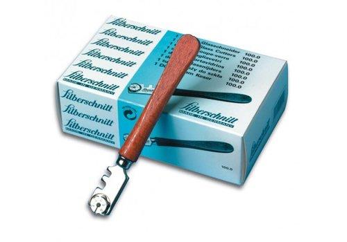 Silberschnitt glassnijder met houten heft (Doos met 12 stuks)