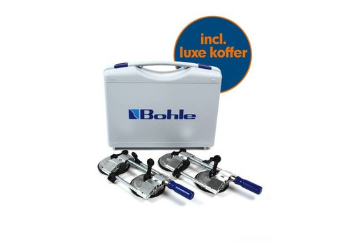 Veribor® platenspannerset (spanwijdte 10 - 55 mm), 2 stuks inclusief koffer (BO 650.32)