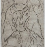 Cor de Wolff, dry point etching of a clown