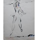 Aquarel van Gerard Hordijk, ballerina