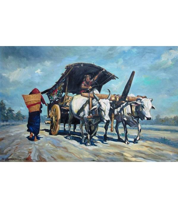 Indonesian oil painting bySumardi